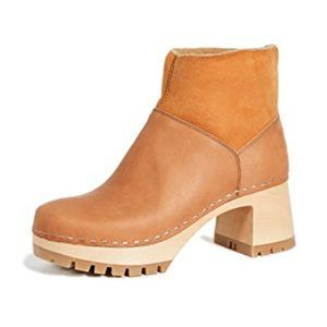 Swedish Hasbeens |Shearling Lined Platform Boots